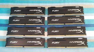 32 GB RAM (8* 4 GB) DDR4 2133 Mhz.