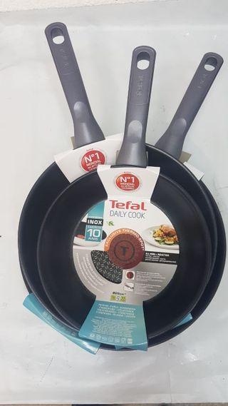 Tefal Daily Cook juego 3 sartenes 20-24-26 cm
