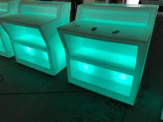 Bares barras de bar led colores