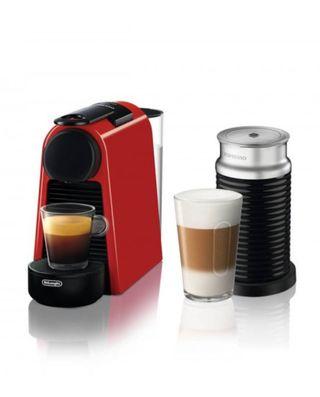 Cafetera Nespresso Essenza Mini & Aeroccino 3 Roja