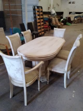 mesa salón+6 sillas
