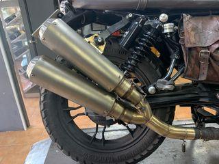 Tubo de escape moto guzzi v7 y v7ll