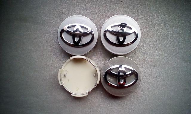 4 Tapabujes centro rueda toyota prius gris 62mm.