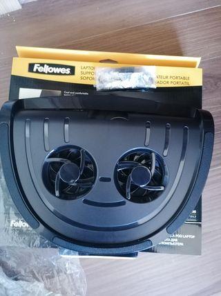 Bandeja con ventiladores para portatil