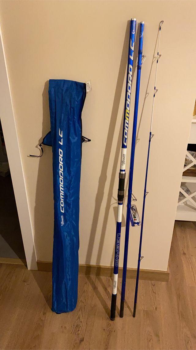 2 Cañas de pescar Vercelli Commodoro LC 4,20m 3p