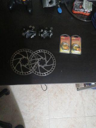 conjunto frenos de disco bicicleta