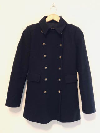 Zara Short Buttoned Coat Size S