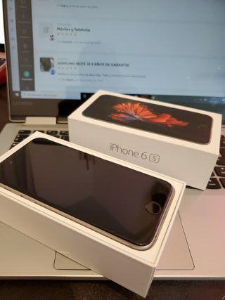 Iphone 6s 64 gb NEGRO y plata