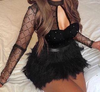 Vestido de Fiesta Negro, talla XL a estrenar