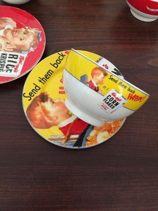 Kit desayuno Tazon Bol y plato Kellogs Plato taza