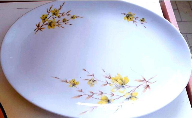 Fuente ovalada loza porcelana