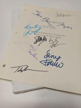 Spider-Man Guión Firmado Original
