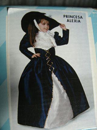 Disfraz princesa Alexia, en su caja.