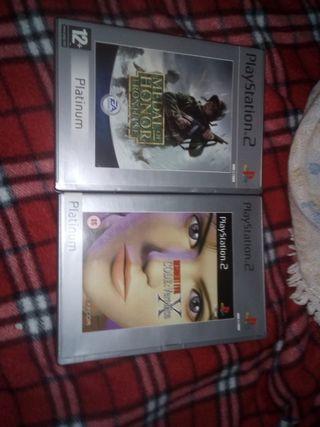 2 juegos auténticos PlayStation 2 Platinun