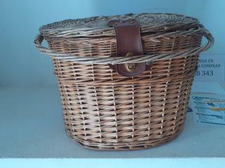 cesta mimbre para bicicleta