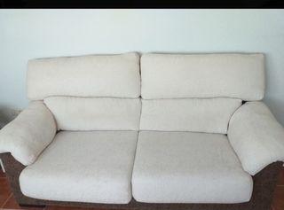 sofá de dos/tres plazas tela color beige