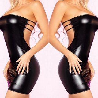 vestido negro sexy talla m va con tanga a juego