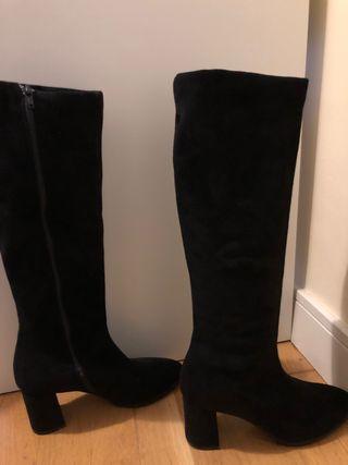 Botas altas negras talla 37