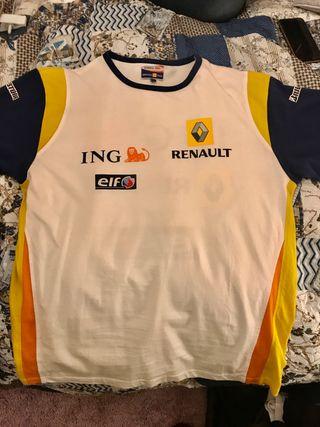 Se vende camiseta original Renault ING F1 talla L