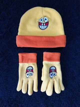 Gorro y guantes Bop Esponja
