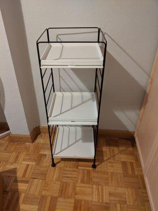 Estantería blanca de 3 estantes
