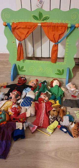 guiñol + lote marionetas