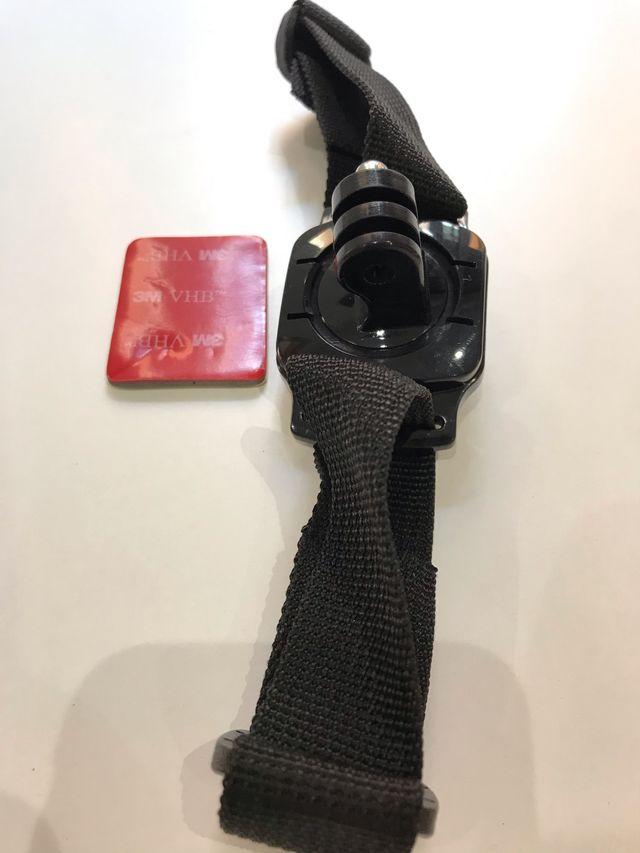 Soporte de casco ranurado con rotación 360 gopro