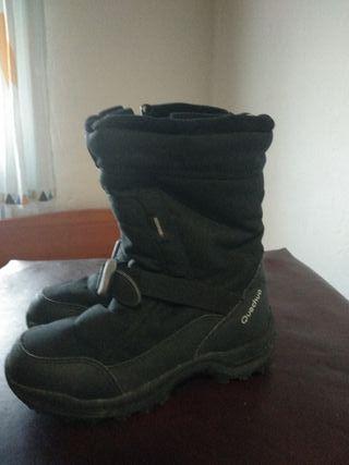 botas de nieve talla 33