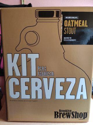 Kit para fabricar cerveza.