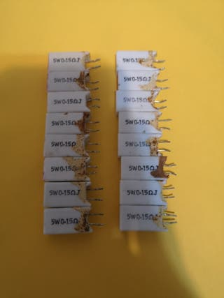 16 resistencia 5w 0.15 ohmios