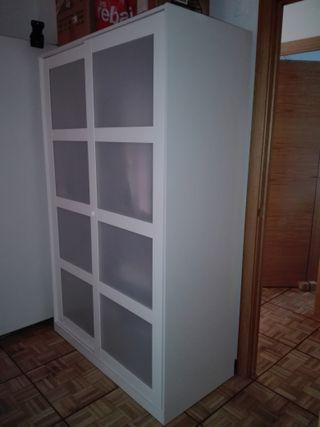 armario blanco puertas correderas 190*120*57