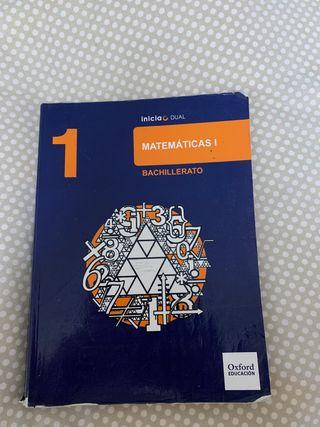 Libro matemáticas 1BACHILLERATO