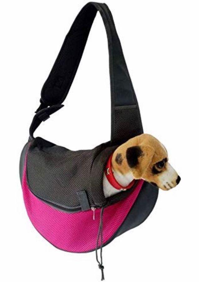 Bolsa bandolera para transporte perros o gatos