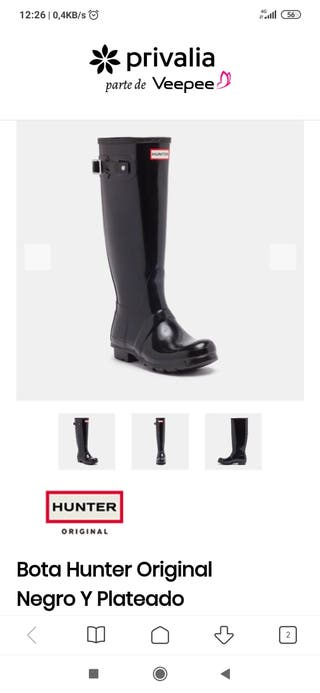 Hunter boots + calcetines cubre botas Hunter