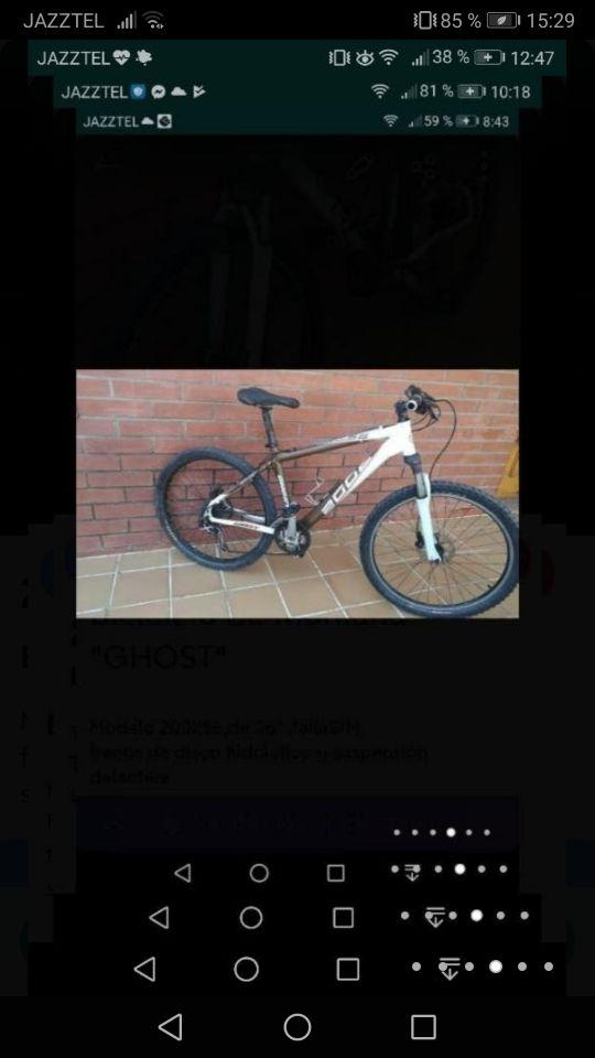 """Bicicleta de montaña""""Ghost"""""""