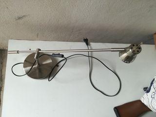 lámpara escritorio acero inoxidable