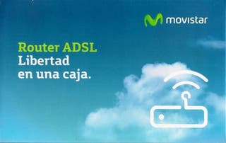 Router Movistar ADSL 10 Mb.