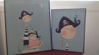 Cuadros infantiles marineros