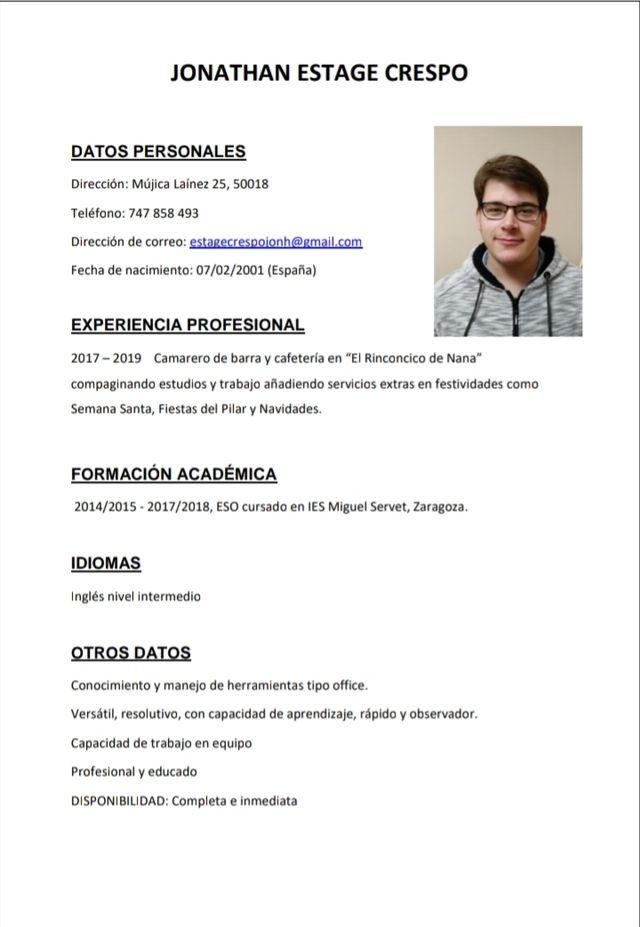 mi currículum