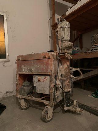 Máquina de proyectar mixer mustang