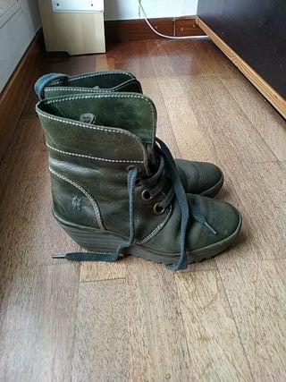 botines fly London verde 37