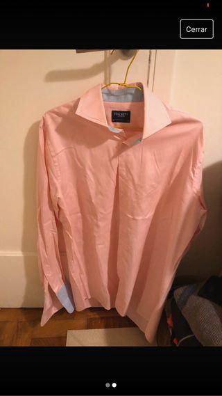 Camisa rosa de hacket