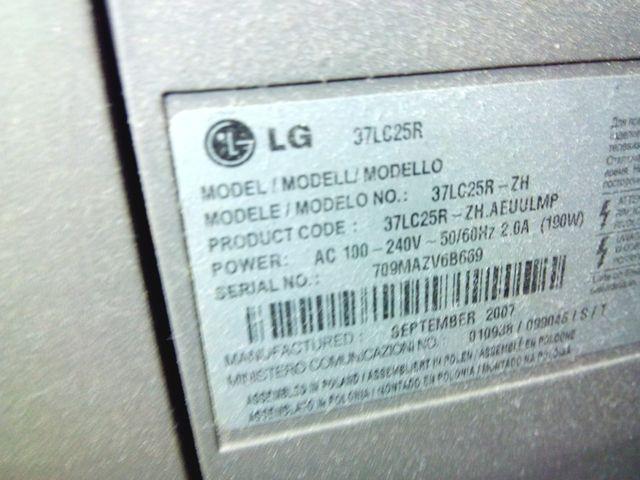 TV LG 37 pulgadas (mdo 37lc25r)