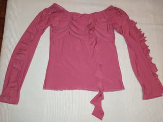camiseta rosa estilo mesonera flamenca