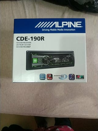 Radio alpine coche cd usb auxiliar