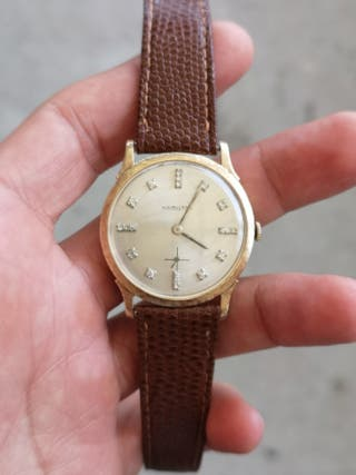 reloj hamilton con diamantes