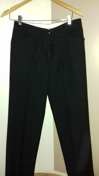 Pantalón negro trabajo hombre