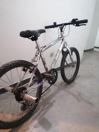 Bicicleta niño cromada
