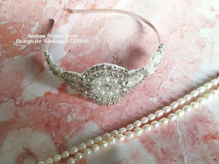 Tiara Joya de novia diadema en color plata tocado