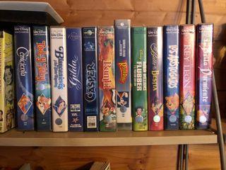 Colección Disney VHS y películas varias DVD